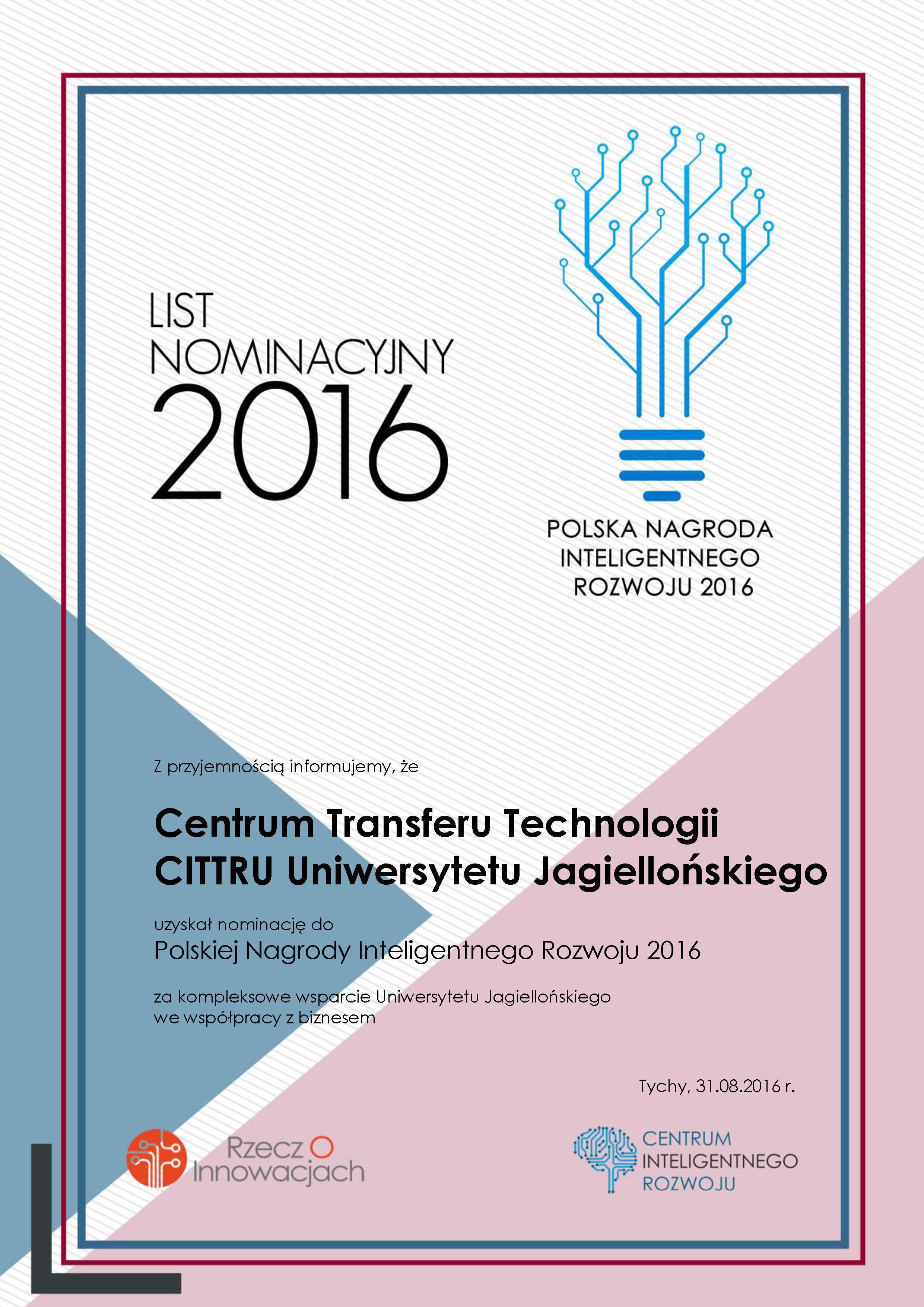 LIsto nominacyjny 2016