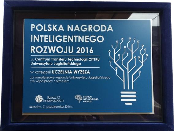miniatura Nagroda Inteligentnego Rozwoju dla CITTRU