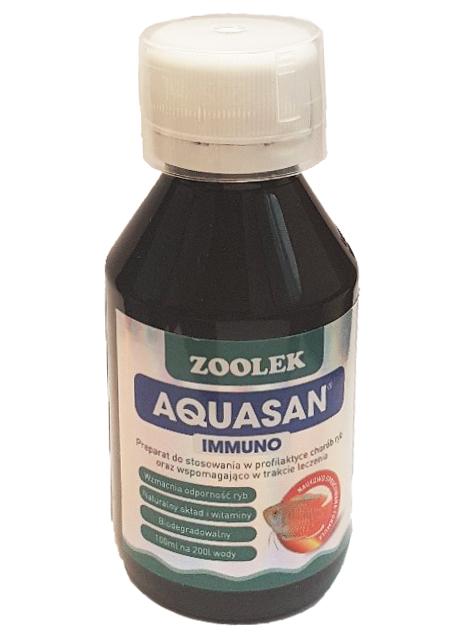 Buteleczka preparatu Aquasan firmy Zoolek